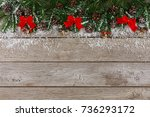 christmas background with copy... | Shutterstock . vector #736293172
