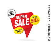 sale and special offer banner ... | Shutterstock .eps vector #736295188