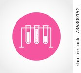 test tube  icon  isolated on... | Shutterstock .eps vector #736300192