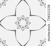 silver seamless pattern in... | Shutterstock .eps vector #736311238