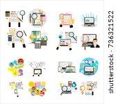 analytics search information... | Shutterstock .eps vector #736321522