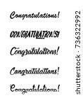 congratulations card.... | Shutterstock .eps vector #736322992