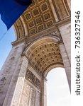 arc de triomphe in paris ...   Shutterstock . vector #736327546