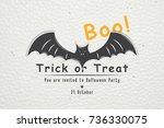 happy halloween. invitation to... | Shutterstock .eps vector #736330075