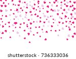 background of falling hearts.... | Shutterstock .eps vector #736333036