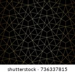abstract geometric pattern with ... | Shutterstock .eps vector #736337815