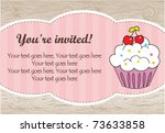 natural cupcake card | Shutterstock .eps vector #73633858