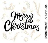 merry christmas template for...   Shutterstock .eps vector #736344805