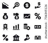 16 vector icon set   crisis ... | Shutterstock .eps vector #736345126
