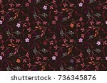 floral pattern. seamless small... | Shutterstock .eps vector #736345876