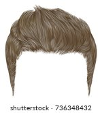 trendy stylish man hairs.... | Shutterstock .eps vector #736348432