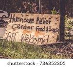 key west florida hurricane irma ... | Shutterstock . vector #736352305