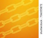 wireframe blockchain links.... | Shutterstock .eps vector #736355872