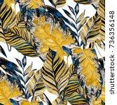 watercolor seamless pattern... | Shutterstock . vector #736356148