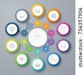 infographics template 10... | Shutterstock .eps vector #736357906