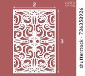 laser cut ornamental panel with ... | Shutterstock .eps vector #736358926