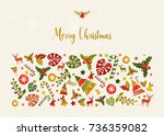 merry christmas illustration.... | Shutterstock .eps vector #736359082