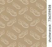 shoes  fashion pattern vector... | Shutterstock .eps vector #736359838