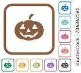 halloween pumpkin simple icons... | Shutterstock .eps vector #736362562