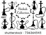 Hookah Icon Set Black...