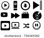 play button icon | Shutterstock .eps vector #736369282
