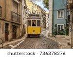 tram in lisbon   Shutterstock . vector #736378276