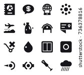 16 vector icon set   annual... | Shutterstock .eps vector #736378816