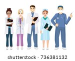 vector illustration of team... | Shutterstock .eps vector #736381132