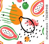 abstract bright colorful papaya ... | Shutterstock .eps vector #736389448