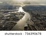 Aerial View Hamburg  River Elb...