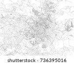 streets of jerusalem  city map  ...   Shutterstock .eps vector #736395016