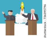 presidential candidate speaks... | Shutterstock .eps vector #736395796
