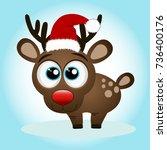 christmas reindeer. christmas...   Shutterstock .eps vector #736400176