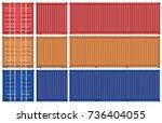 vector of container cargo  | Shutterstock .eps vector #736404055