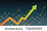 abstract financial chart with...   Shutterstock .eps vector #736405435