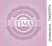 ultimate badge with pink... | Shutterstock .eps vector #736407976