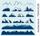 mountains vector set | Shutterstock .eps vector #736414138