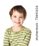 cute smiling happy little boy... | Shutterstock . vector #73641616