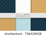 collection of seamless... | Shutterstock .eps vector #736418428