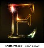 glowing neon font. shiny letter ... | Shutterstock .eps vector #73641862