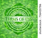 terms of use green mosaic emblem