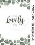 vector floral card design ... | Shutterstock .eps vector #736422022