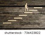 paper silhouette cutout of a... | Shutterstock . vector #736423822