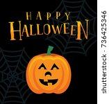 a happy halloween jack o... | Shutterstock . vector #736425346