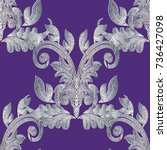 baroque embroidery vector... | Shutterstock .eps vector #736427098