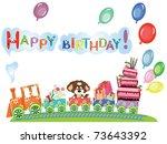 birthday background | Shutterstock . vector #73643392