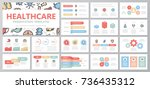 set of medical and healthcare... | Shutterstock .eps vector #736435312