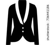 women's coat | Shutterstock .eps vector #736441186