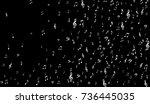 dark musical background. white... | Shutterstock .eps vector #736445035