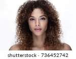 portrait of a beautiful young... | Shutterstock . vector #736452742